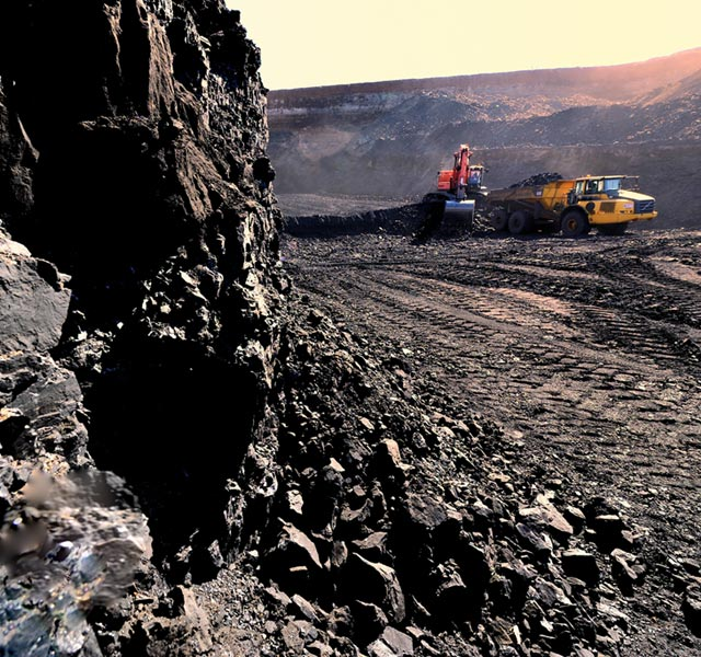 Open pit coal mining